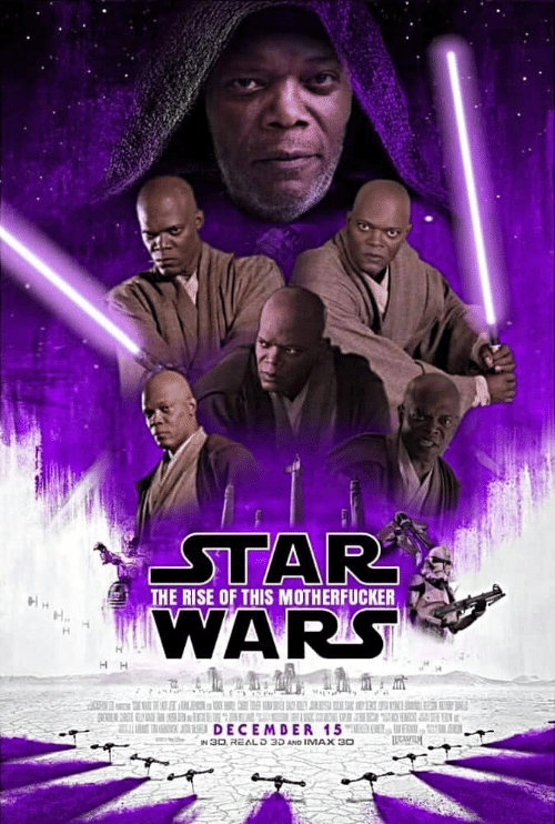 K: STAR  WARS  THE RISE OF THIS MOTHERFUCKER  K  DECEMDER 15MED DL, VENI, UL SER  IN 30, REALD 3D AND IMAX 30