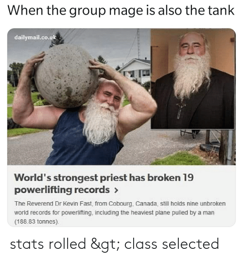 Selected: stats rolled > class selected