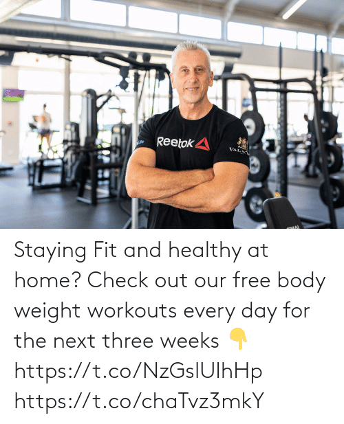 Love for Quotes: Staying Fit and healthy at home? Check out our free body weight workouts every day for the next three weeks 👇 https://t.co/NzGslUIhHp https://t.co/chaTvz3mkY