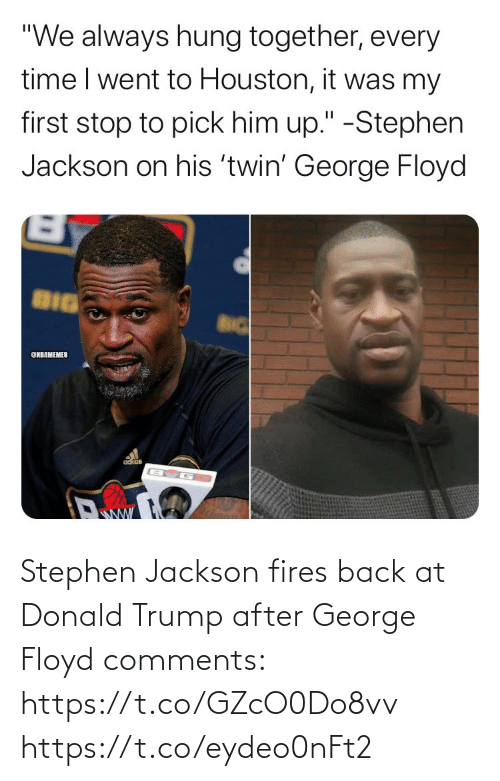 Donald Trump: Stephen Jackson fires back at Donald Trump after George Floyd comments: https://t.co/GZcO0Do8vv https://t.co/eydeo0nFt2