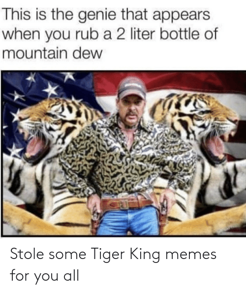 Memes For: Stole some Tiger King memes for you all