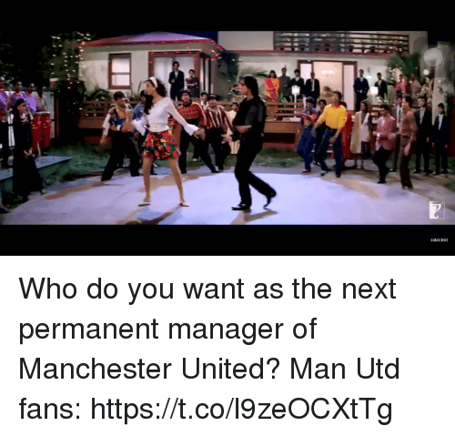 Manchester United: SUBSCRIBE Who do you want as the next permanent manager of Manchester United?  Man Utd fans:  https://t.co/l9zeOCXtTg