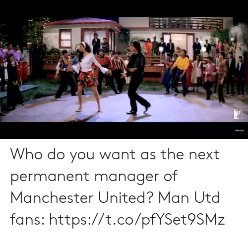Manchester United: SUBSCRIBE Who do you want as the next permanent manager of Manchester United?  Man Utd fans: https://t.co/pfYSet9SMz