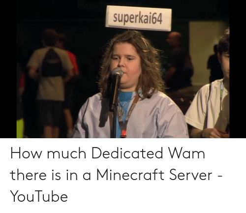 Superkai64 How Much Dedicated Wam There Is in a Minecraft Server