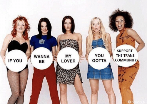 support: SUPPORT  THE TRANS  WANNA  BE  MY  LOVER  YOU  GOTTA COMMUNITY  IF YOU