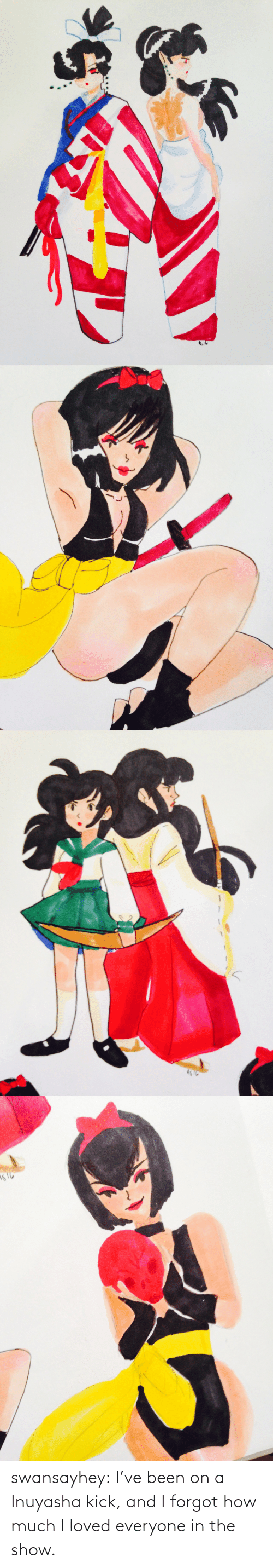 show: swansayhey:  I've been on a Inuyasha kick, and I forgot how much I loved everyone in the show.