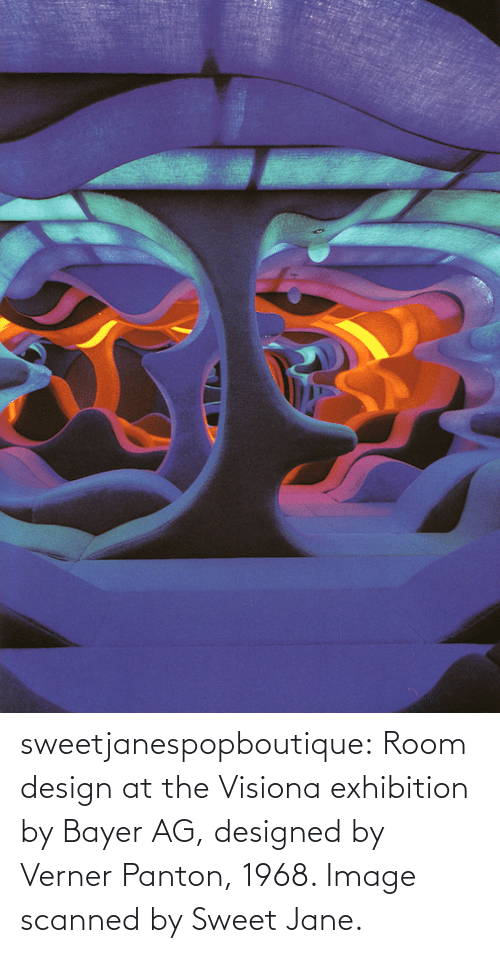 sweet: sweetjanespopboutique: Room design at the Visiona exhibition by Bayer AG, designed by Verner Panton, 1968. Image scanned by Sweet Jane.