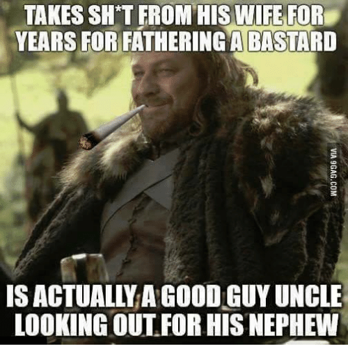 Shatted: TAKES SHAT FROM HIS WIFE FOR  YEARS FOR FATHERINGA BASTARD  IS ACTUALLY AGOODIGUYUNCLE  LOOKING OUT FOR HIS NEPHEW