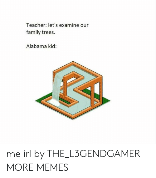 Alabama: Teacher: let's examine our  family trees.  Alabama kid: me irl by THE_L3GENDGAMER MORE MEMES