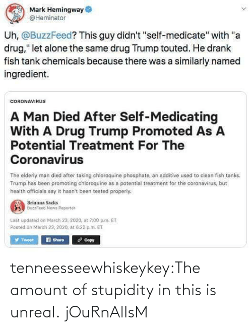 Stupidity: tenneesseewhiskeykey:The amount of stupidity in this is unreal.   jOuRnAlIsM