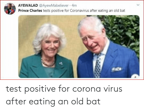 eating: test positive for corona virus after eating an old bat