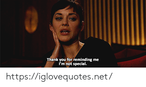 Thank You, Net, and You: Thank you for reminding me  Im not special. https://iglovequotes.net/