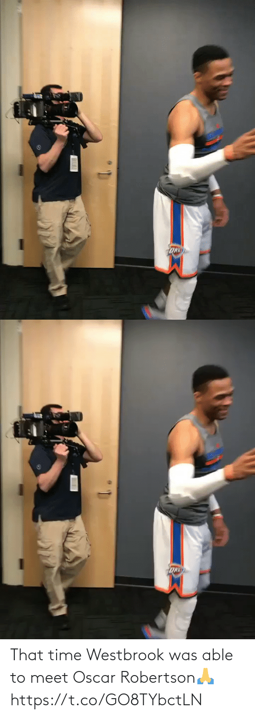 Able: That time Westbrook was able to meet Oscar Robertson🙏 https://t.co/GO8TYbctLN