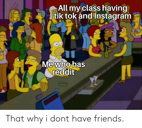 Friends: That why i dont have friends.