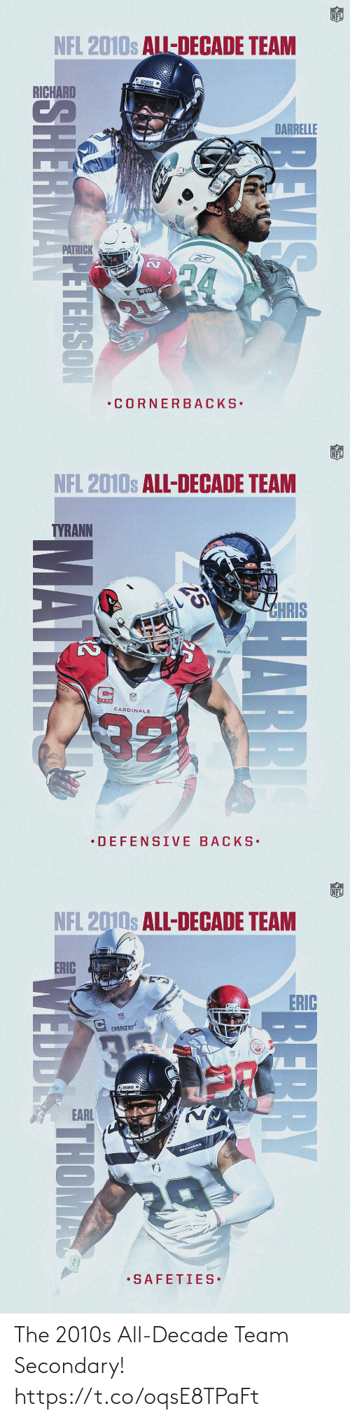 team: The 2010s All-Decade Team Secondary! https://t.co/oqsE8TPaFt