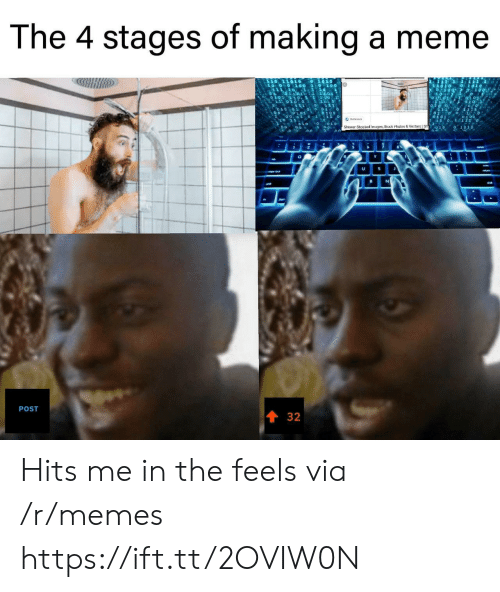 Meme, Memes, and Shower: The 4 stages of making a meme  o  211 0 111a  01 0 1 0  0101  101  0101  Shower Shocked 'magos, Stock Photos & Vectors Sh  U  POST  32 Hits me in the feels via /r/memes https://ift.tt/2OVIW0N