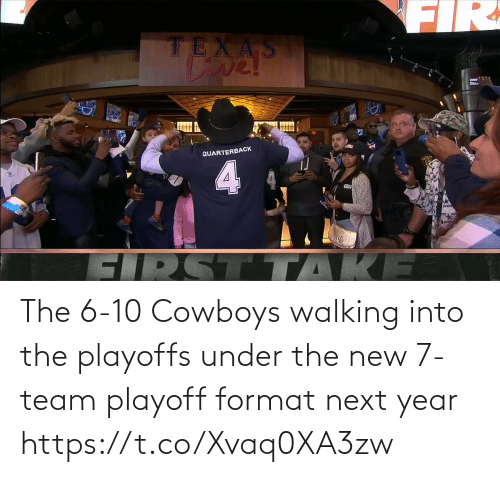 Dallas Cowboys: The 6-10 Cowboys walking into the playoffs under the new 7-team playoff format next year https://t.co/Xvaq0XA3zw