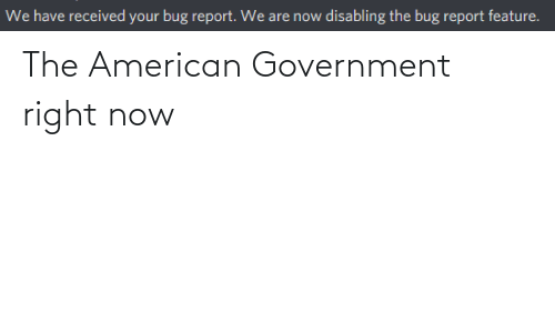 American: The American Government right now