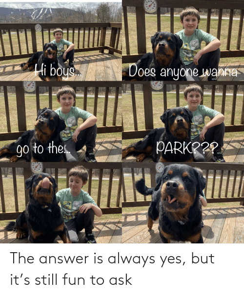 The Answer: The answer is always yes, but it's still fun to ask
