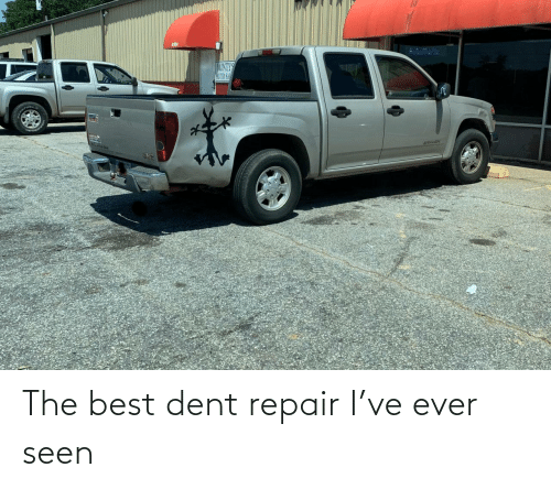 the best: The best dent repair I've ever seen