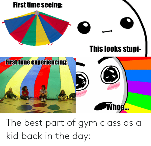 Part: The best part of gym class as a kid back in the day: