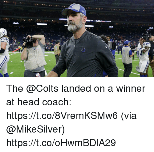 A Winner: The @Colts landed on a winner at head coach: https://t.co/8VremKSMw6 (via @MikeSilver) https://t.co/oHwmBDlA29