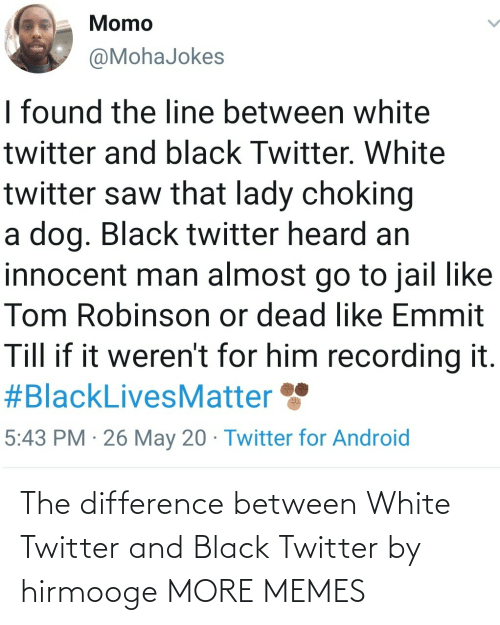 Between: The difference between White Twitter and Black Twitter by hirmooge MORE MEMES