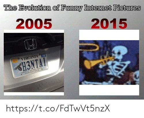 Evolution Of: The Evolution of Funny Intermet Pictures  2005  2015  16  VIRGINIA  OCT  H3NTAT  National Air and Space Muscum  UDVAR-HAZY CENTER https://t.co/FdTwVt5nzX