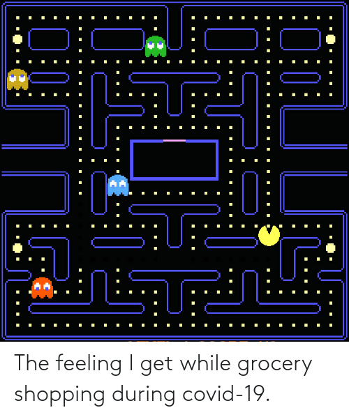 While: The feeling I get while grocery shopping during covid-19.