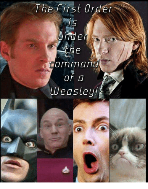 the commander: The first Order  IS  Under  the  command  of  Weasley!