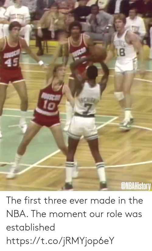 White People: The first three ever made in the NBA. The moment our role was established https://t.co/jRMYjop6eY