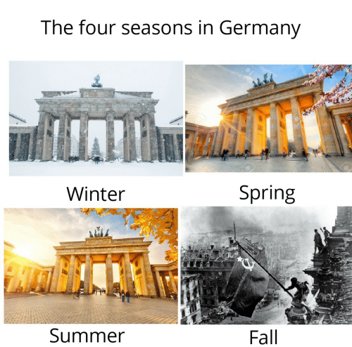 Fall: The four seasons in Germany  123R  Winter  Spring  Summer  Fall  123R