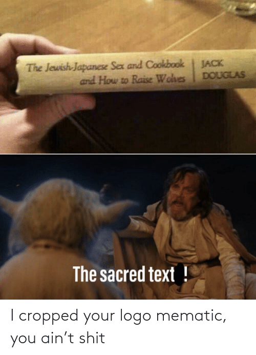 Sex, Shit, and How To: The Jewish-Japanese Sex and Cookbook  and How to Raise Wohes  JACK  DOUGLAS  The sacred text ! I cropped your logo mematic, you ain't shit