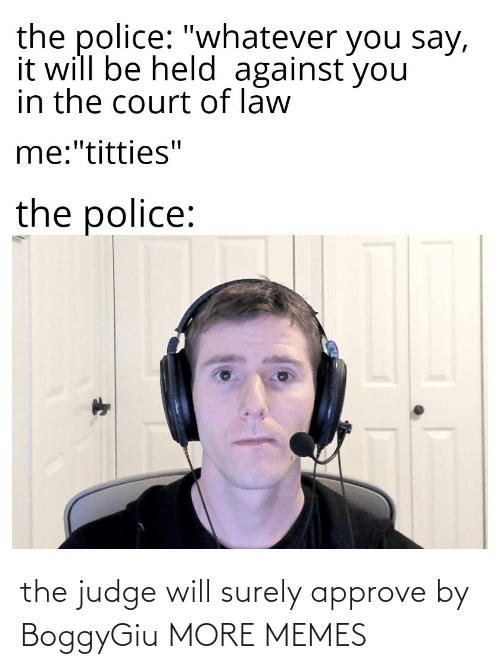 judge: the judge will surely approve by BoggyGiu MORE MEMES