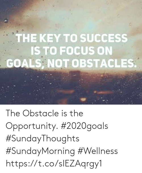 Love for Quotes: THE KEY TO SUCCESS  IS TO FOCUS ON  GOALS, NOT OBSTACLES. The Obstacle is the Opportunity.  #2020goals #SundayThoughts  #SundayMorning #Wellness https://t.co/sIEZAqrgy1