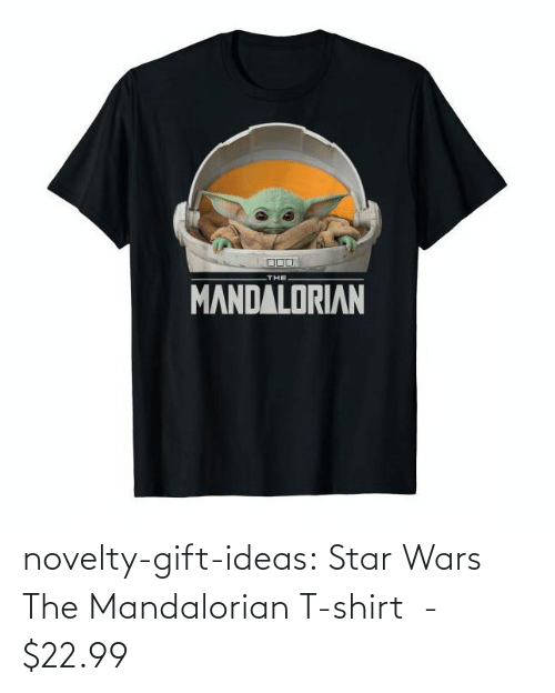 Star Wars, Tumblr, and Blog: THE  MANDALORIAN novelty-gift-ideas:  Star Wars The Mandalorian T-shirt  -   $22.99