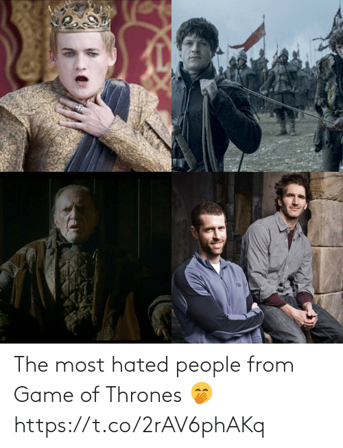 Game: The most hated people from Game of Thrones 🤭 https://t.co/2rAV6phAKq