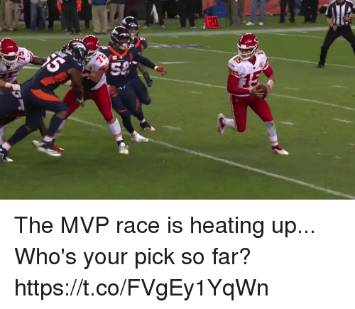 Memes, Race, and 🤖: The MVP race is heating up...  Who's your pick so far? https://t.co/FVgEy1YqWn