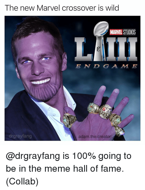 Anaconda, Meme, and Memes: The new Marvel crossover is wild  MARVEL STUDIOS  E N DGA M E  drgrayfang  adam.the.creator @drgrayfang is 100% going to be in the meme hall of fame. (Collab)
