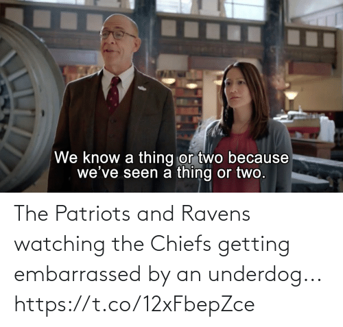 Ravens: The Patriots and Ravens watching the Chiefs getting embarrassed by an underdog... https://t.co/12xFbepZce