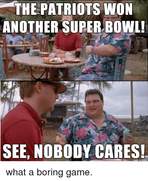 Patriotic, Super Bowl, and Game: THE PATRIOTS WON  ANOTHER SUPER BOWL  SEE, NOBODY CARES what a boring game.