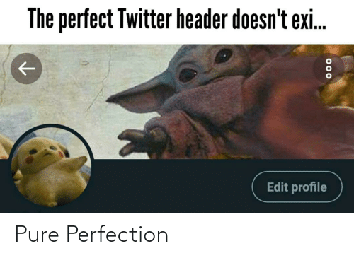 pure: The perfect Twitter header doesn't exi.  Edit profile  000 Pure Perfection