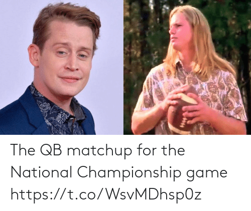 National: The QB matchup for the National Championship game https://t.co/WsvMDhsp0z