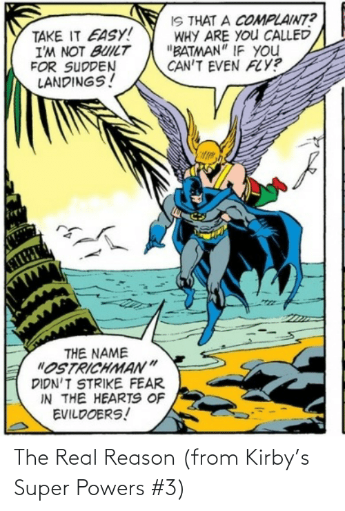 super: The Real Reason (from Kirby's Super Powers #3)