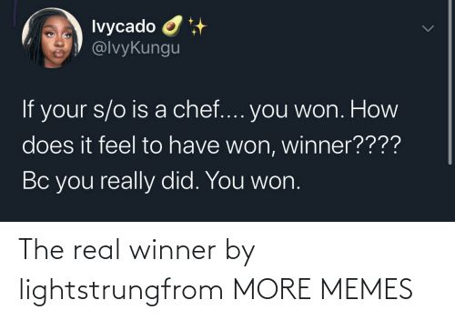 Hilarious: The real winner by lightstrungfrom MORE MEMES