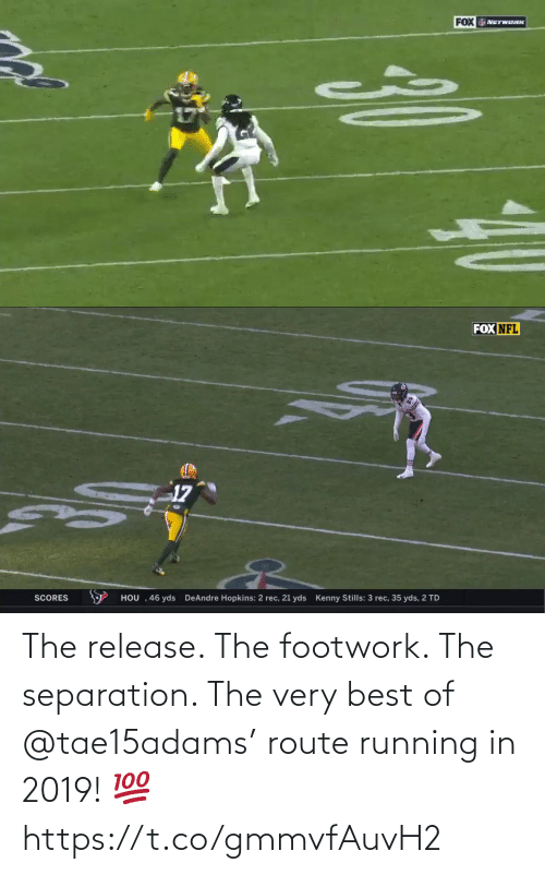 Running: The release. The footwork. The separation.   The very best of @tae15adams' route running in 2019! 💯 https://t.co/gmmvfAuvH2