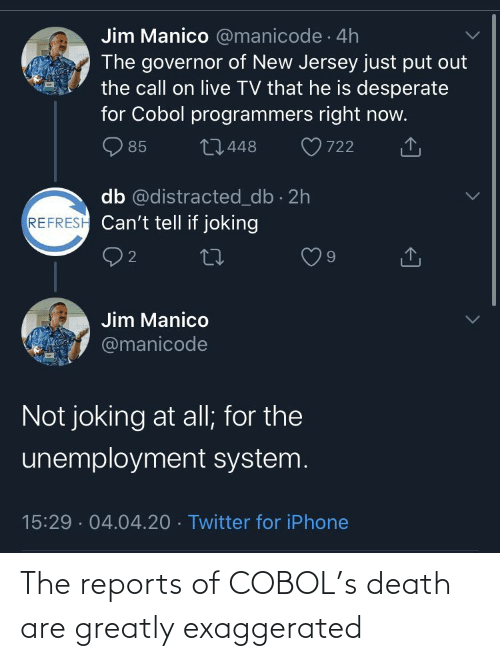 Death: The reports of COBOL's death are greatly exaggerated