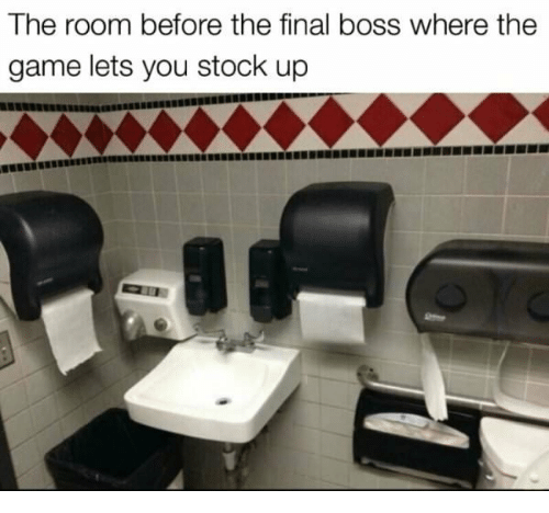 The Final Boss: The room before the final boss where the  game lets you stock up