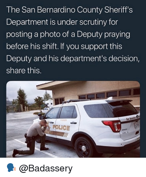 The San Bernardino County Sheriff's Department Is Under