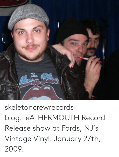Fords: The skeletoncrewrecords-blog:LeATHERMOUTH Record Release show at Fords, NJ's Vintage Vinyl.January 27th, 2009.